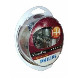 LÁMPARA H4 PHILIPS VISION PLUS 12V 60/55W 2 UNIDADES