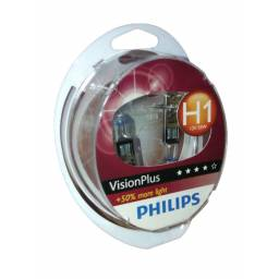 LÁMPARA H1 PHILIPS VISION PLUS 12V/55W 2 UNIDADES