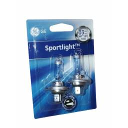 LAMPARA H7 GENERAL ELECTRIC SPORTLIGHT 12V 55W  2 UNIDADES