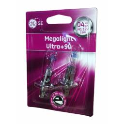 LÁMPARA H1 GENERAL ELECTRIC MEGALIGHT ULTRA+90 12V/55W 2 UNIDADES