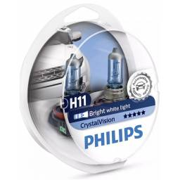 LÁMPARA H11 PHILIPS CRYSTAL VISION 12V 55W PACK X2